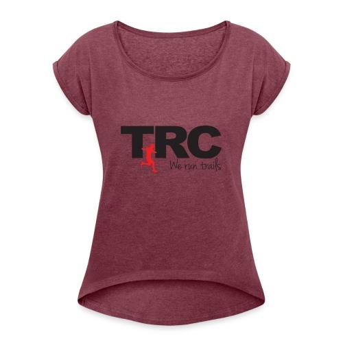 Trailman Running Club Cotton Shirts - Dame T-shirt med rulleærmer