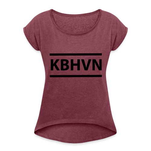 KBHVN 06 01 - Dame T-shirt med rulleærmer