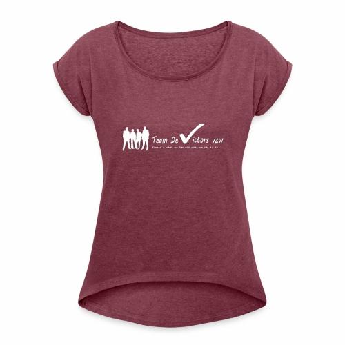 TDV - Vrouwen T-shirt met opgerolde mouwen