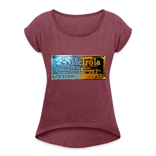 vitrola - Camiseta con manga enrollada mujer