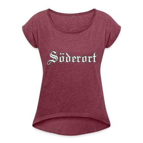 Söderort - T-shirt med upprullade ärmar dam