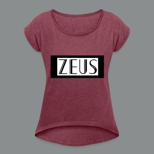 ZEUS - Vrouwen T-shirt met opgerolde mouwen