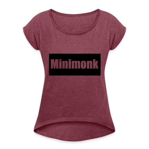 Design - Women's T-Shirt with rolled up sleeves