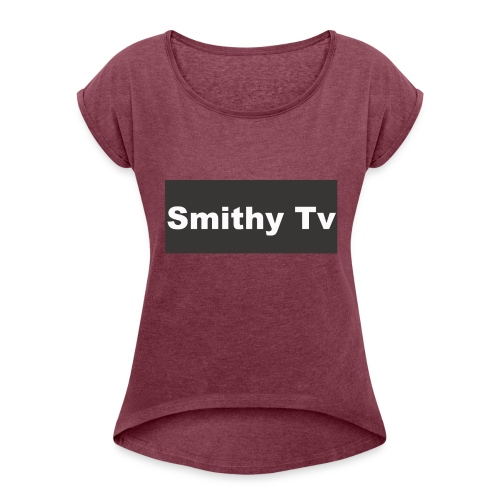 smithy_tv_clothing - Women's T-Shirt with rolled up sleeves