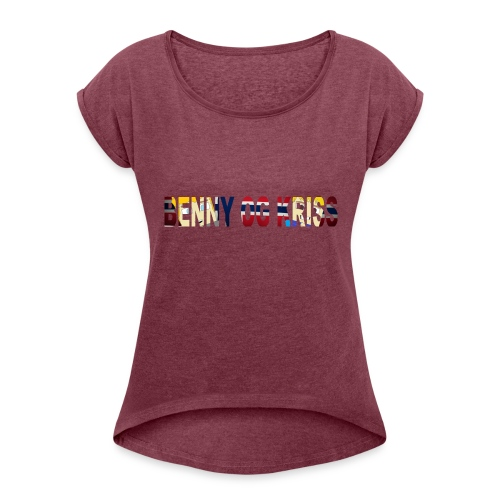 BennyOgKriss Orginal - T-skjorte med rulleermer for kvinner