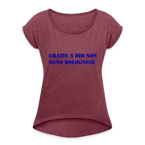 grazie a dio non sono bolognese - Maglietta da donna con risvolti