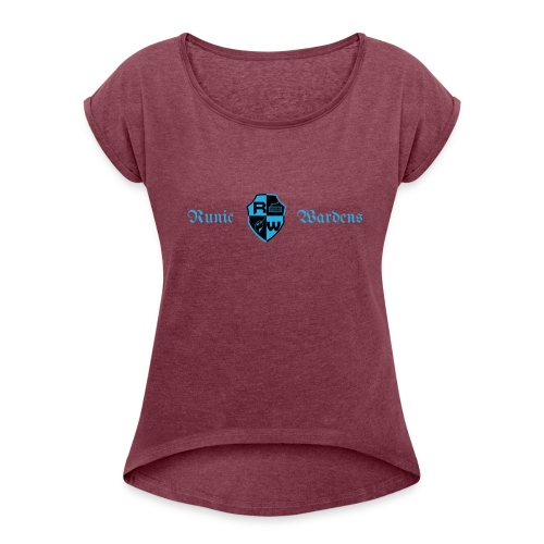 Banner logo - Women's T-Shirt with rolled up sleeves