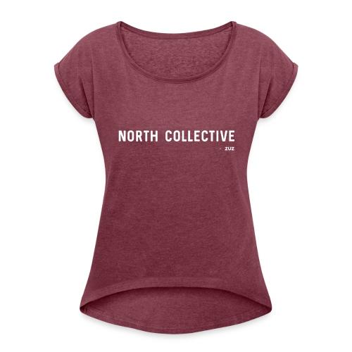Zuz - Vrouwen T-shirt met opgerolde mouwen