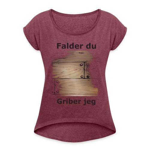 Gulvet Griber - Dame T-shirt med rulleærmer