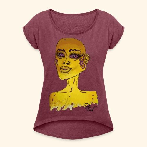Special design YellowPDw - Vrouwen T-shirt met opgerolde mouwen