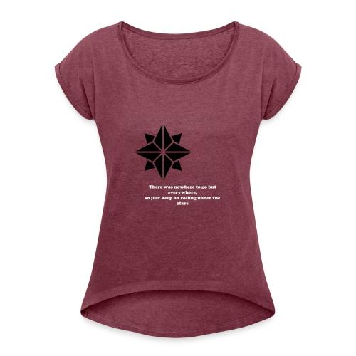 North Star - Maglietta da donna con risvolti