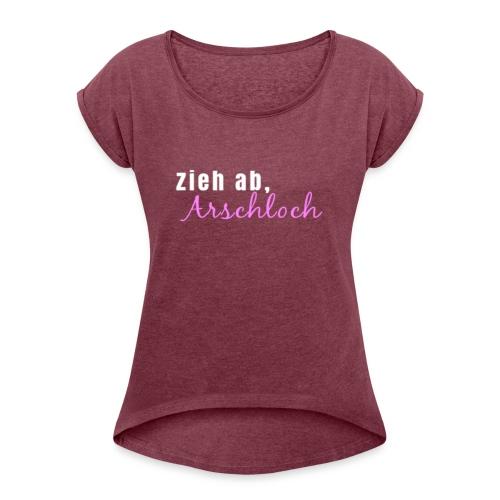 ziehab - Frauen T-Shirt mit gerollten Ärmeln