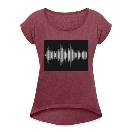 Soundwave - Vrouwen T-shirt met opgerolde mouwen