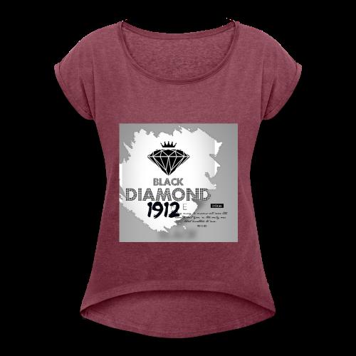 146C0C56 FCC8 4935 97DD F98AB4747816 - Camiseta con manga enrollada mujer