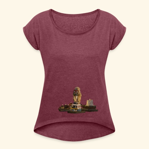 Booky - Frauen T-Shirt mit gerollten Ärmeln