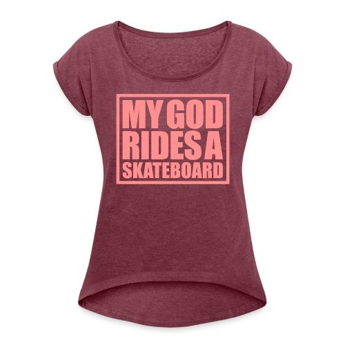 skateboard - T-shirt à manches retroussées Femme
