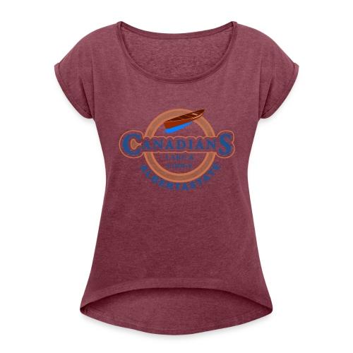 Arbeitspulli PNG - Frauen T-Shirt mit gerollten Ärmeln