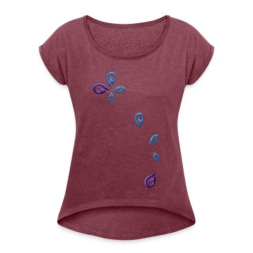 Lhynns Gaming - Logo en pièces - T-shirt à manches retroussées Femme