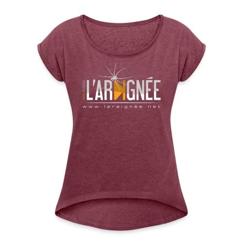 L'Araignée, le logo clair pour fond foncés - T-shirt à manches retroussées Femme