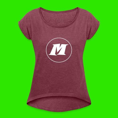 streatwear kleding - Vrouwen T-shirt met opgerolde mouwen
