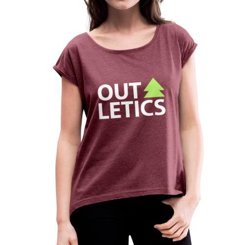 outletics classic - Frauen T-Shirt mit gerollten Ärmeln