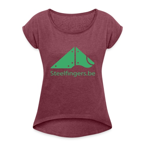 Steelfingers shirts - Vrouwen T-shirt met opgerolde mouwen