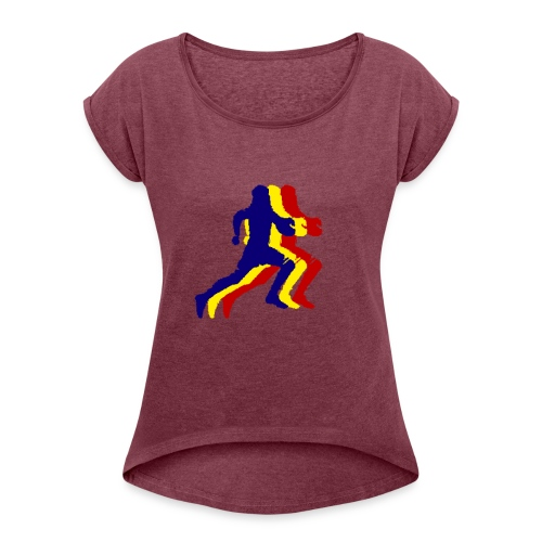 VPC 3 corredors - Camiseta con manga enrollada mujer