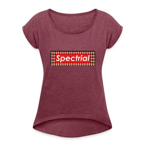 Spectrial Logo - Vrouwen T-shirt met opgerolde mouwen