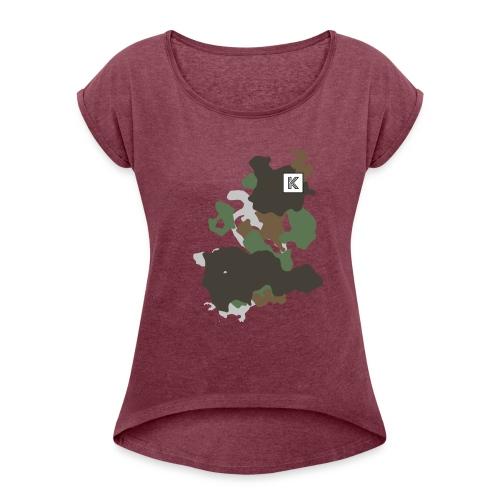 Original Kuster Camo Edition - Frauen T-Shirt mit gerollten Ärmeln