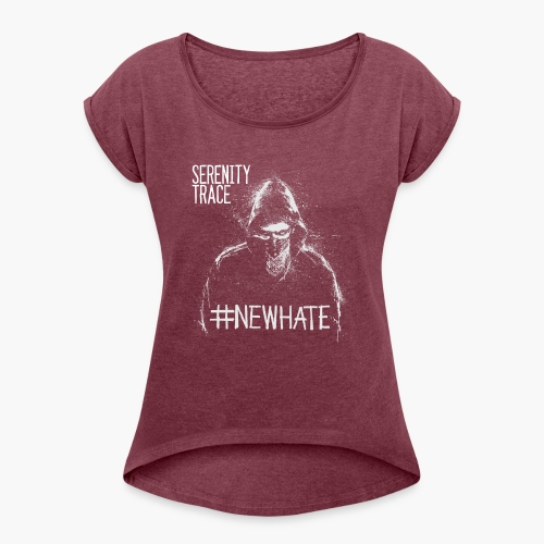 #NewHate Male - T-skjorte med rulleermer for kvinner