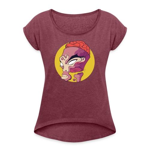 Open minded - T-shirt à manches retroussées Femme