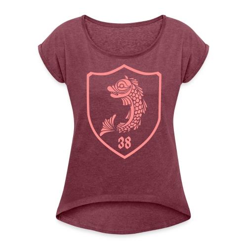 grenoble, dauphin blason 38 - T-shirt à manches retroussées Femme