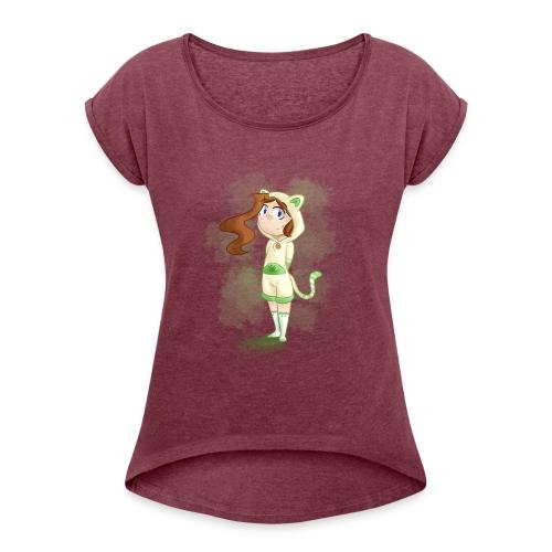CatMad - T-shirt à manches retroussées Femme
