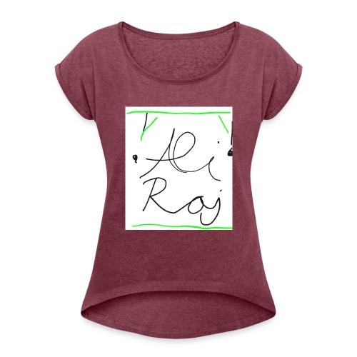 IMG_0173 - Frauen T-Shirt mit gerollten Ärmeln