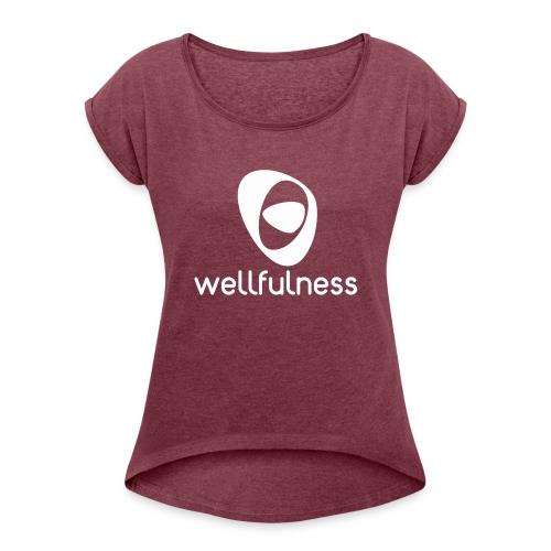 Bienestar Pleno - Camiseta con manga enrollada mujer