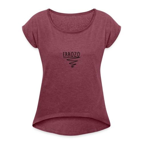 Errozo - T-shirt med upprullade ärmar dam