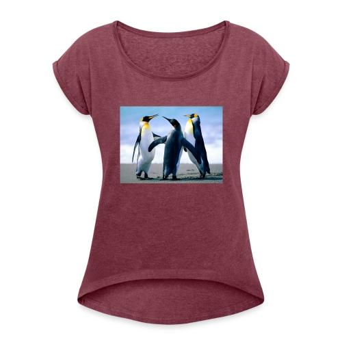Penguins - T-shirt à manches retroussées Femme