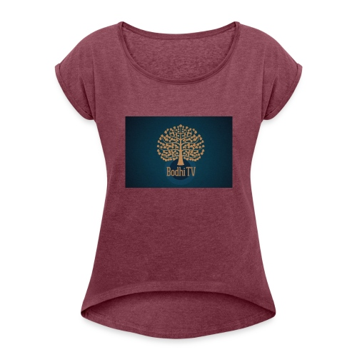 BodhiTV - Vrouwen T-shirt met opgerolde mouwen