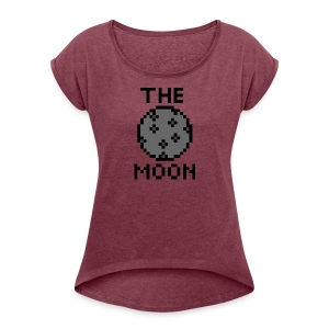 The Moon - Frauen T-Shirt mit gerollten Ärmeln