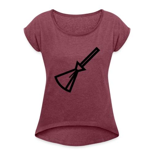 Balais Balais Wiccan Wicca ! - T-shirt à manches retroussées Femme