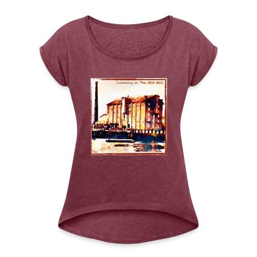 TOM - Camiseta con manga enrollada mujer