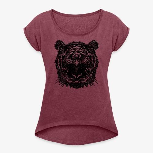 Teega - Frauen T-Shirt mit gerollten Ärmeln