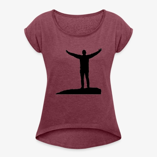 CONQUER - Dame T-shirt med rulleærmer