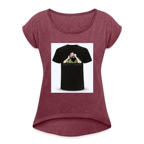tt34 - T-shirt à manches retroussées Femme