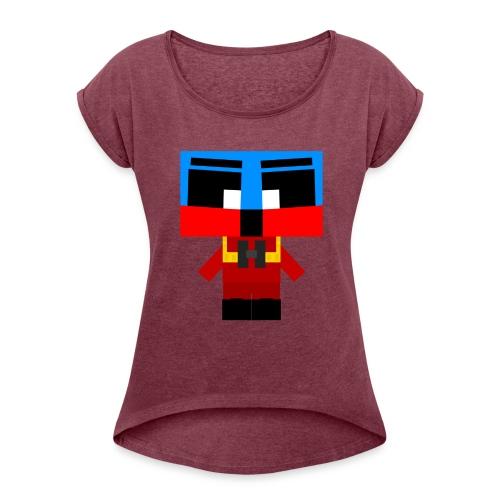 Autopiloten - T-shirt med upprullade ärmar dam