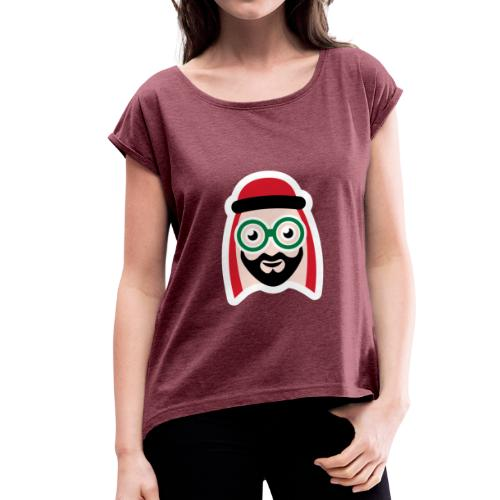Abu Icon sqtecd - Women's T-Shirt with rolled up sleeves