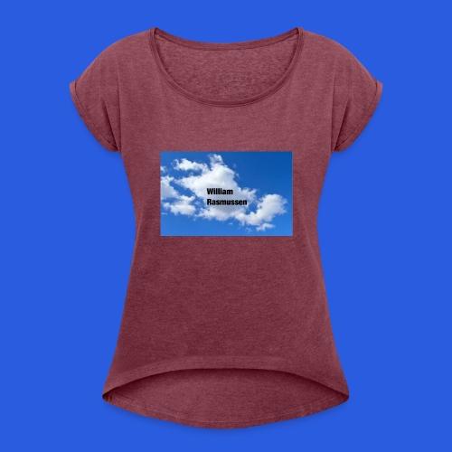 IMG_1175 - Dame T-shirt med rulleærmer