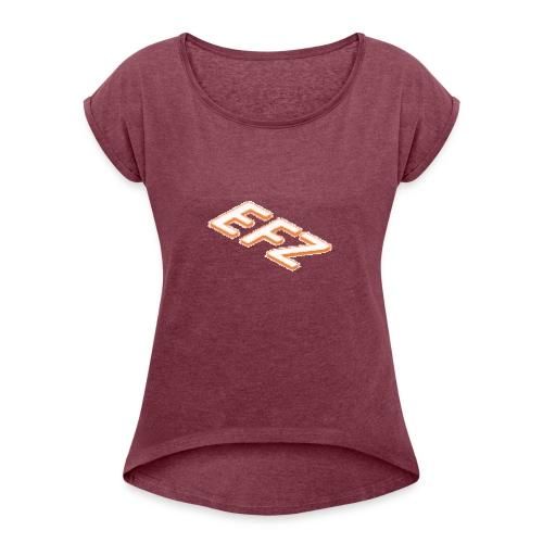 S.1 Shorts EFZ LOGOMAIN - Frauen T-Shirt mit gerollten Ärmeln