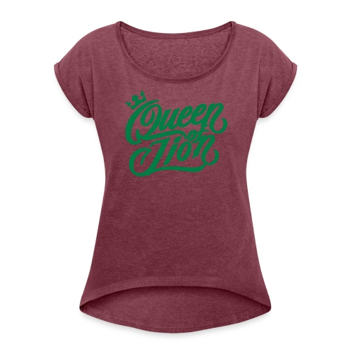 MAD SWAGG queen of LION DESERT/BLK - T-shirt à manches retroussées Femme
