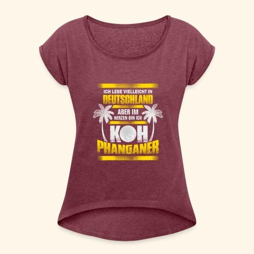 Koh Phanganer Shirt - Frauen T-Shirt mit gerollten Ärmeln